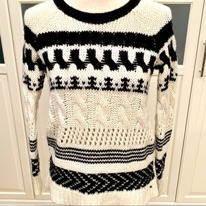 AEO chunky oversized fair isle sweater